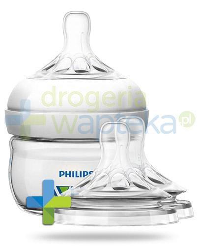 Avent Philips Natural butelka dla niemowląt 60 ml ze smoczkiem dla niemowląt 0m+ [699/17...  whited-out