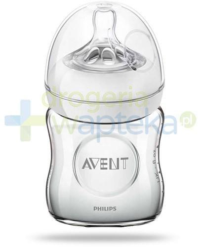 Avent Philips Natural butelka szklana dla niemowląt 120 ml ze smoczkiem dla niemowląt 0m...