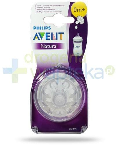 Avent Philips Natural smoczek silikonowy dla noworodków 0m+ 2 sztuki [651/27]