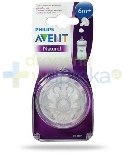 Avent Philips Natural smoczek silikonowy do gęstych pokarmów dla dzieci 6m+ 2 sztuk...