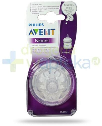 Avent Philips Natural smoczek silikonowy do pierwszych karmień dla dzieci 0m+ 2 sztuk...