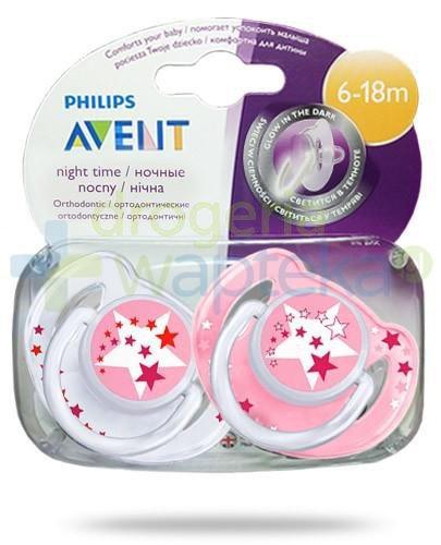 Avent Philips Night smoczek gryzak silikonowy ortodontyczny świecący w nocy dla dziec...