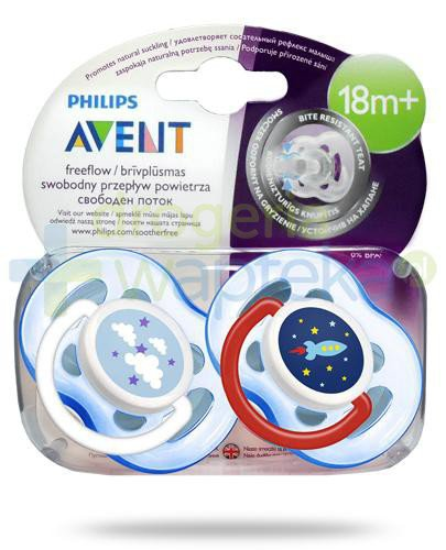 Avent Philips FreeFlow smoczek gryzak silikonowy ortodontyczny odporny na gryzienie dla dz...