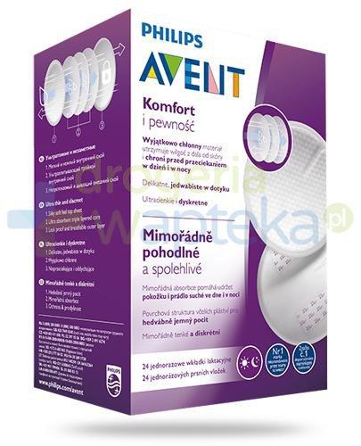 Avent Philips Komfort i pewność wkładki laktacyjne 24 sztuki [254/24]
