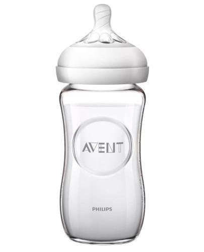 Avent Philips Natural butelka szklana dla niemowląt ze smoczkiem o wolnym wypływie 1...