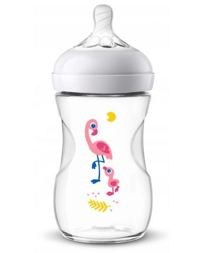 Avent Philips Natural Flaming butelka dla niemowląt 260 ml ze smoczkiem o wolnym wypływi...