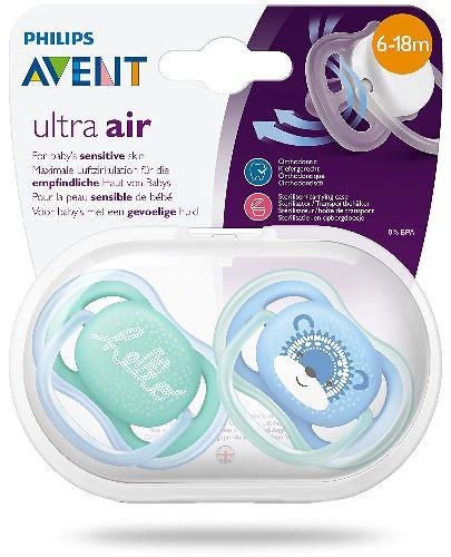 Avent Philips Ultra Air ortodontyczny smoczek uspokajający 6-18m 2 sztuki [SCF342/22]