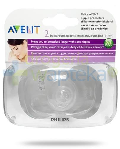 Avent Philips silikonowe osłonki na piersi 21mm 2 sztuki [156/01]