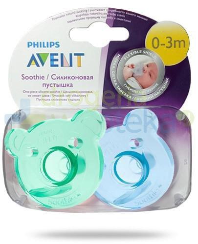 Avent Philips Soothie smoczek gryzak silikonowy ortodontyczny dla dzieci 0-3m 2 sztuk...