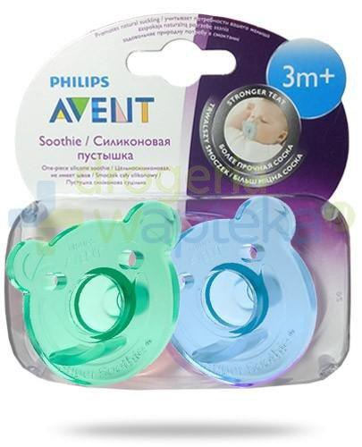 Avent Philips Soothie smoczek gryzak silikonowy ortodontyczny dla dzieci 3m+ 2 sztuk...