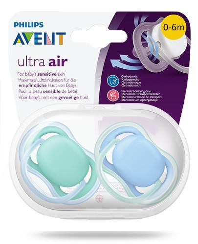 Avent Ultra Air smoczek silikonowy ortodontyczny dla dzieci 0-6m 2 sztuki [244/20]