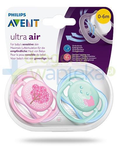 Avent Ultra Air smoczek silikonowy ortodontyczny dla dzieci 0-6m 2 sztuki [343/20]