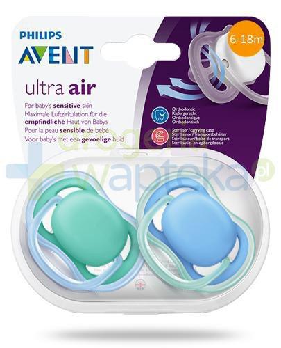 Avent Ultra Air smoczek silikonowy ortodontyczny dla dzieci 6-18m 2 sztuki [244/22]