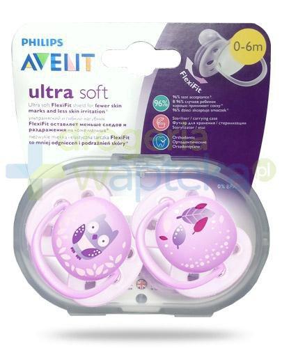 Avent Philips Ultra Soft miękki smoczek dla delikatnej skóry dziecka 0-6m 2 sztuk...