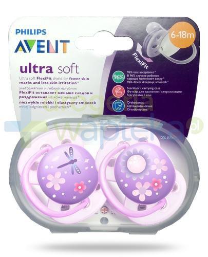 Avent Philips Ultra Soft miękki smoczek dla delikatnej skóry dziecka 6-18m 2 sztuki [227/22]