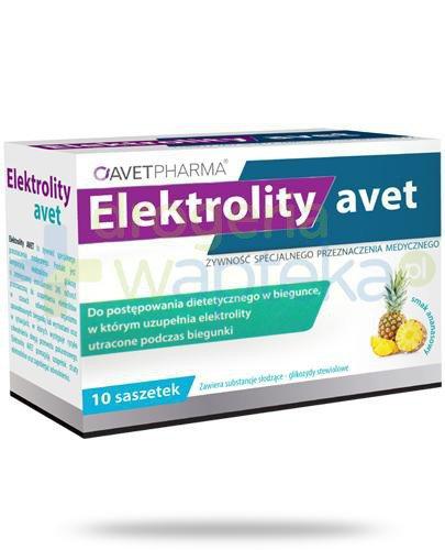 AvetPharma Elektrolity Avet smak ananasowy 10 saszetek