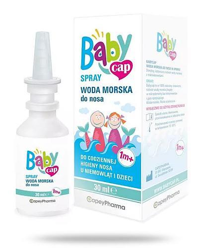 BabyCap Spray woda morska do nosa 1m+ 30 ml