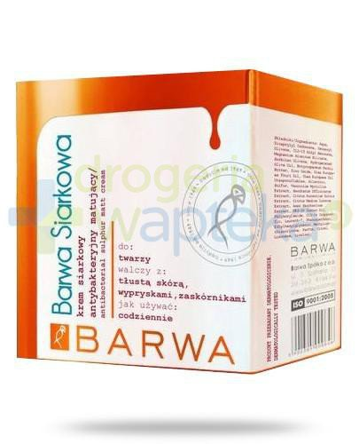 Barwa Siarkowa krem antybakteryjny matujący 50 ml