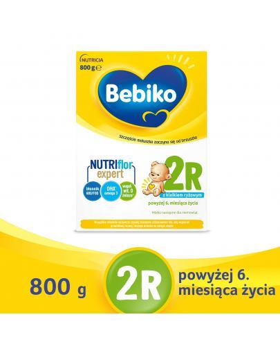 Bebiko 2R NutriFlor+ mleko w proszku z kleikiem ryżowym dla dzieci 6m+ 800 g