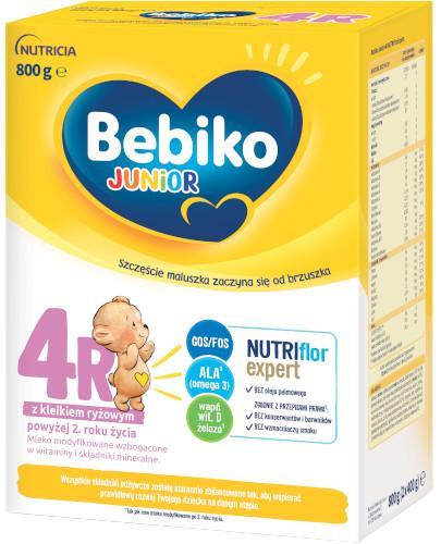 Bebiko Junior 4R NutriFlor+ z kleikiem ryżowym 800 g