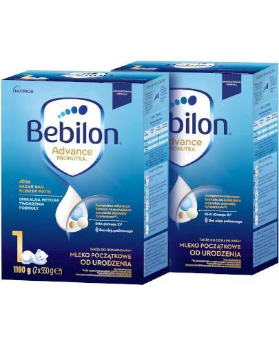 Bebilon 1 Pronutra Advance mleko początkowe od urodzenia 2 x 1100 g [DWUPAK]