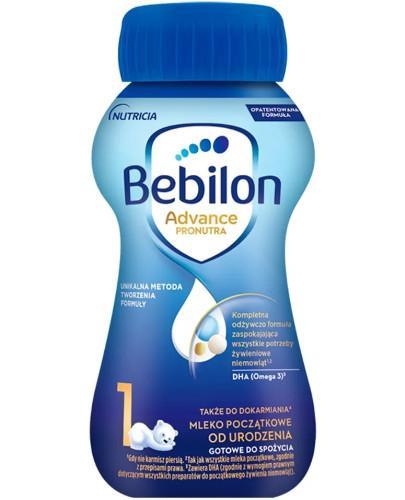 Bebilon 1 Pronutra Advance mleko początkowe od urodzenia 200 ml
