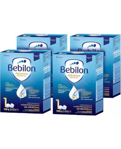 Bebilon 1 Pronutra Advance mleko początkowe od urodzenia 4 x 1100 g [CZTEROPAK]