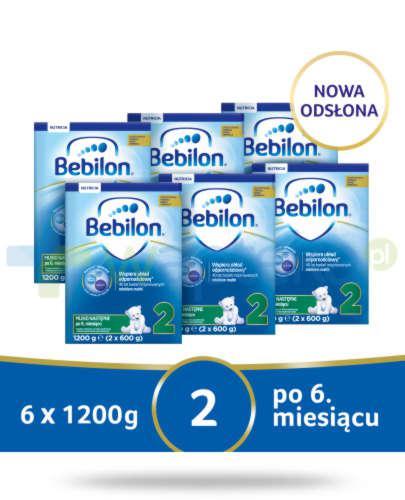 Bebilon 2 Pronutra-Advance mleko następne po 6. miesiącu 6x 1200 g [SZEŚCIOPAK] + Muste...
