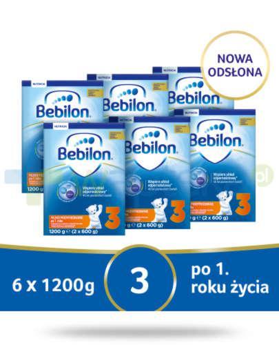 Bebilon 3 Pronutra-Advance mleko modyfikowane po 1. roku 6x 1200 g [SZEŚCIOPAK] + Mustel...  whited-out