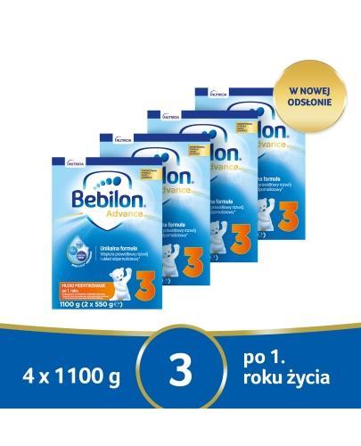 Bebilon 3 Pronutra Advance mleko modyfikowane powyżej 1. roku 4x 1100 g [CZTEROPAK] + Gry...