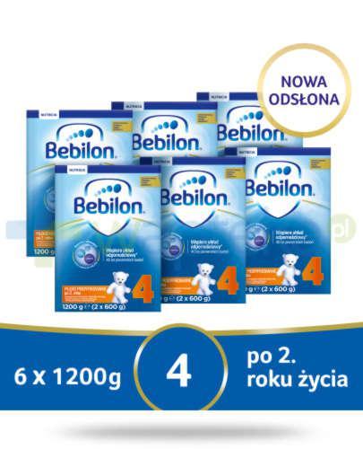 Bebilon 4 Pronutra-Advance mleko modyfikowane po 2. roku 6x 1200 g [SZEŚCIOPAK] + Mustel...