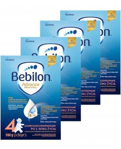 Bebilon 4 Pronutra Advance mleko modyfikowane powyżej 2 roku 4x 1100 g [CZTEROPAK] + Gryz...  whited-out