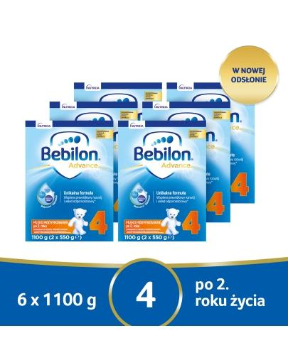 Bebilon 4 Pronutra Advance mleko modyfikowane powyżej 2 roku 6x 1100 g [SZEŚCIOPAK]