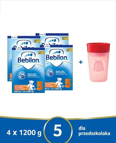 Bebilon 5 Pronutra-Advance mleko modyfikowane dla przedszkolaka 4x 1200 g [CZTEROPAK] + Sk...