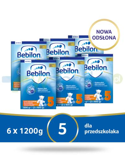 Bebilon 5 Pronutra-Advance mleko modyfikowane dla przedszkolaka 6x 1200 g [SZEŚCIOPAK] + ...  whited-out