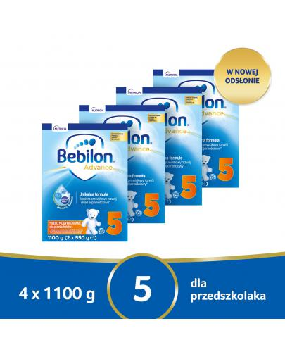 Bebilon 5 Pronutra Advance mleko modyfikowane powyżej 2,5 roku życia 4x 1100 g [CZTEROPA...