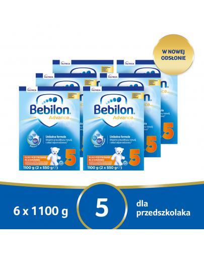 Bebilon 5 Pronutra Advance mleko modyfikowane powyżej 2,5 roku życia 6x 1100 g [SZEŚCIO...