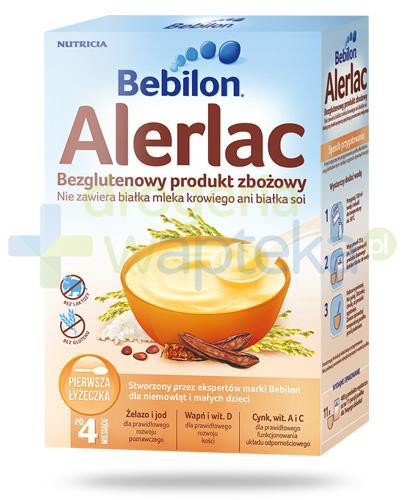 Bebilon Alerlac bezglutenowy produkt zbożowy dla dzieci 4+ 400 g