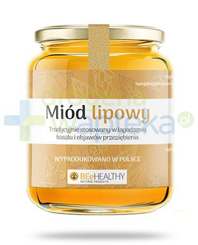 BEeHEALTHY Miód lipowy 400 g  whited-out