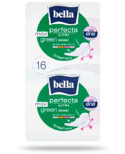 Bella Perfecta Ultra Maxi Green wydłużone podpaski supercienkie z osłonkami bocznym...