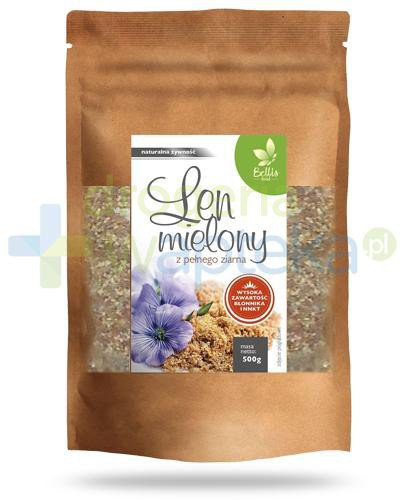 Bellis Pharma Len mielony z pełnego ziarna 500 g  whited-out