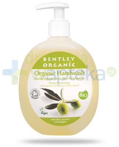 Bentley Organic głęboko oczyszczające mydło w płynie z oliwką, olejem herbacianym i ...