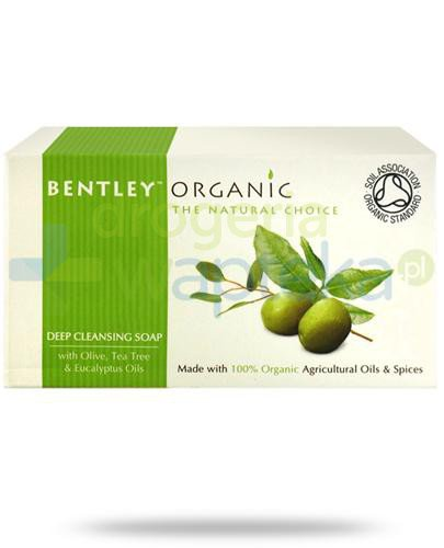 Bentley Organic głęboko oczyszczające mydło z oliwką, olejem herbacianym i eukaliptusemi 150 g