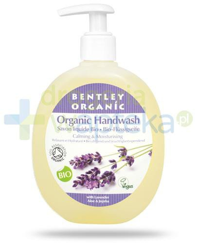Bentley Organic łagodząco nawilżające mydło w płynie z lawendą, aloesem i jojobą 250 ml