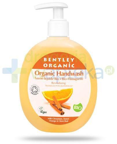 Bentley Organic odżywiające mydło w płynie z cynamonem, pomarańczą i goździkie...