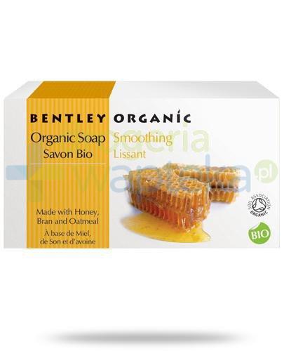 Bentley Organic wygładzające mydło z miodem, otrębami i płatkami owsianymi 150 g