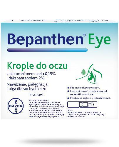 Bepanthen Eye krople do oczu 10x 0,5 ml