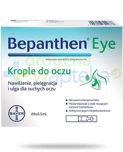 Bepanthen Eye krople do oczu 20x 0,5 ml