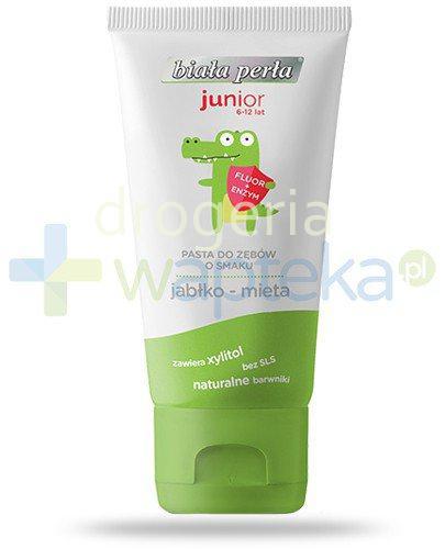 Biała Perła Junior pasta do zębów o smaku jabko-mięta dla dzieci 6-12 50 ml  whited-out