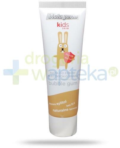 Biała Perła Kids pasta do zębów mlecznych o smaku bubble gum dla dzieci 3-6 50 ml